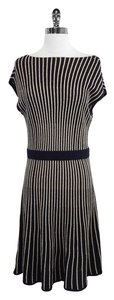 Marc by Marc Jacobs short dress Navy Gold Striped Wool Blend on Tradesy