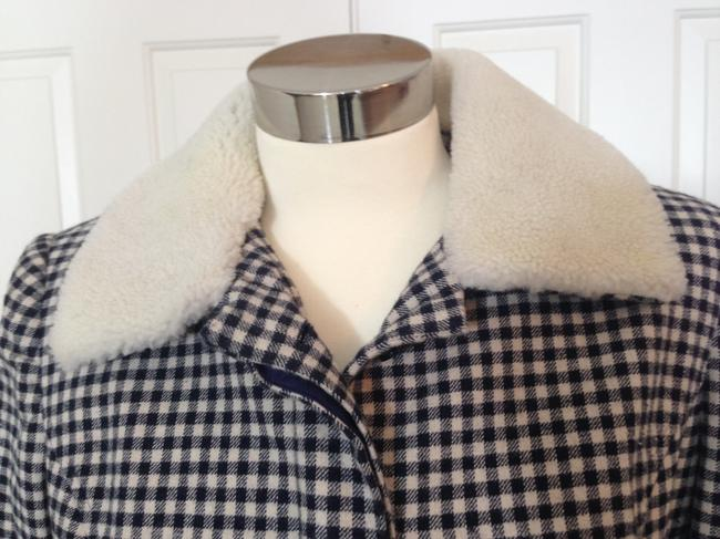 Alice Roi Wool Faux Fur Trench Coat