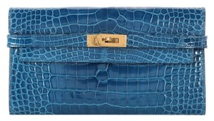 Hermès **consignor return** Mykonos Alligator Kelly Wallet