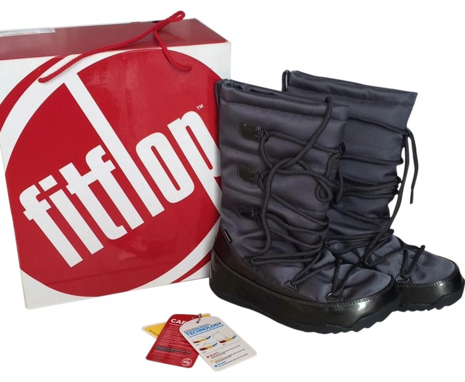 premium selection 5848d 5972c FitFlop Gunmetal Blizzboot Boots/Booties Size US 8 Regular (M, B)