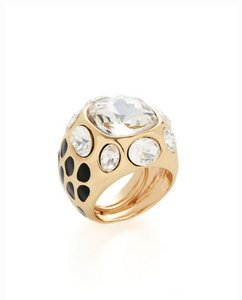 Kenneth Jay Lane KJL Clear Stone Square Ring