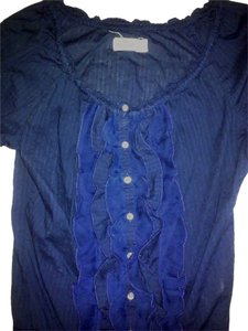 Hollister Cotton Like New Top Navy Blue