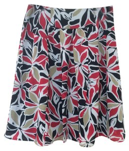 Sunny Leigh Skirt Multi: red, black, white, and gold.