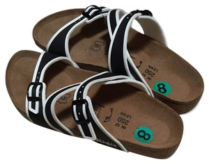 Birki's by Birkenstock Black/White Sandals
