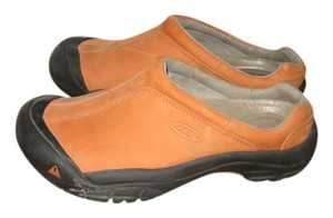 Keen Leather Orange Mules