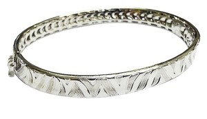 Roberto Coin Roberto Coin 18 Karat White Gold Bracelet With Engraved Zebra pattern