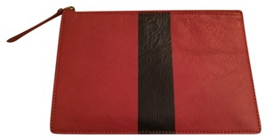 Madewell Leather Burnished Rust Clutch