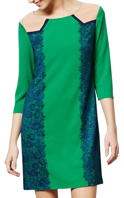 Preload https://img-static.tradesy.com/item/7146919/anthropologie-green-lucius-lace-shift-above-knee-workoffice-dress-size-4-s-0-1-650-650.jpg