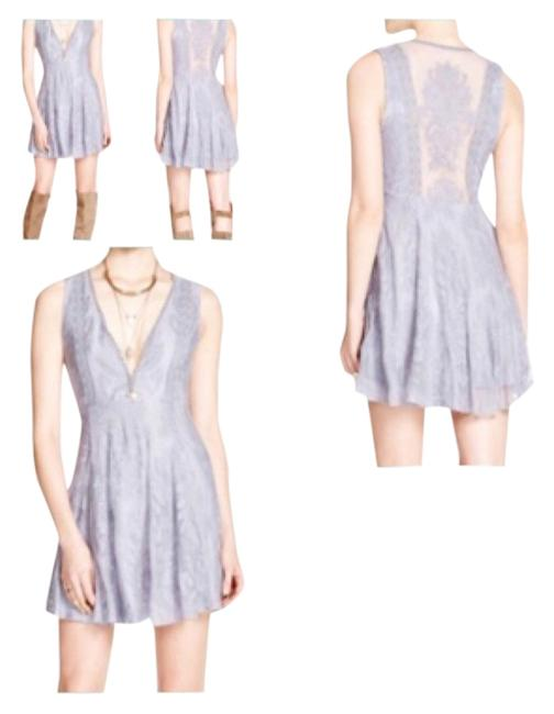 Item - Grey Reign Over Me Above Knee Short Casual Dress Size 4 (S)