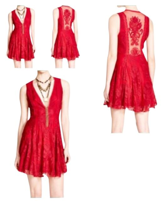 Item - Red Reign Over Me Above Knee Short Casual Dress Size 4 (S)