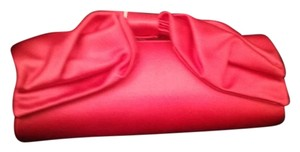 Valentino Satin Evening Red Clutch