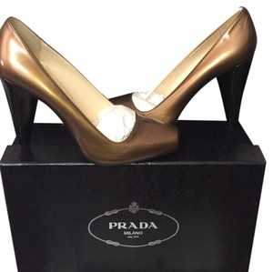 Prada Fumo (Copper) Pumps