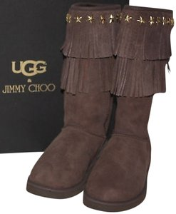 Jimmy Choo Limited Edition Uggs Chocolate Boots