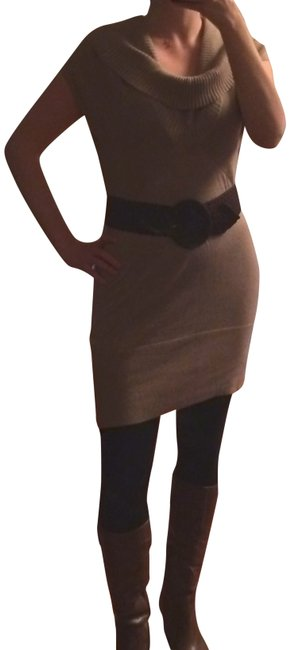 Preload https://item2.tradesy.com/images/banana-republic-tan-dress-tunic-sweaterpullover-size-4-s-714906-0-1.jpg?width=400&height=650