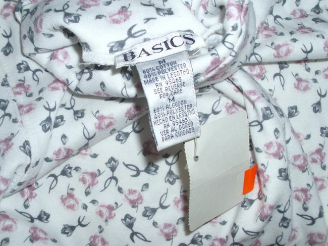Basics Roses Simple Print Traditional Classic Tunic