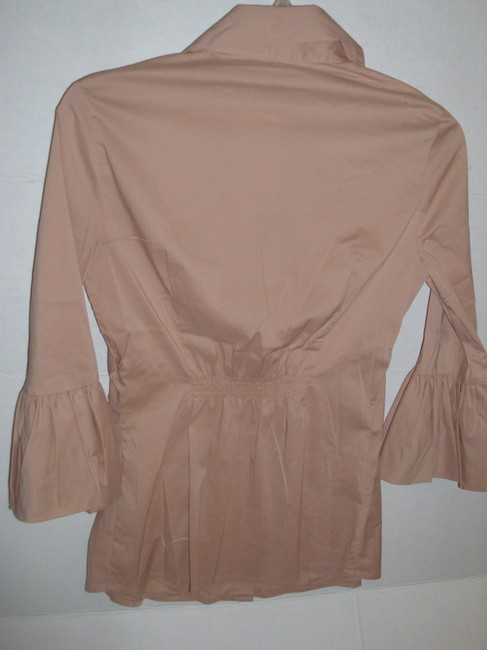 BCBGMAXAZRIA Max Azria Collar Blouse Button Down Shirt Pink