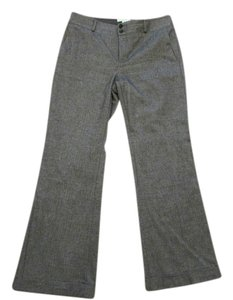 Banana Republic 872967 Flare Pants Black Herringbone