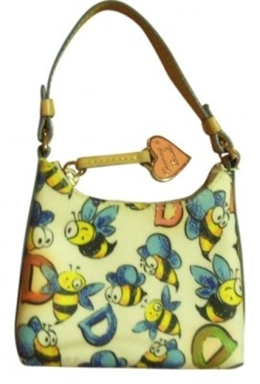 Preload https://img-static.tradesy.com/item/7156/dooney-and-bourke-wbumble-cream-with-yellow-black-blue-bees-with-red-and-leather-wristlet-0-0-540-540.jpg