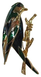 OTHER BEAUTIFUL BIRD PIN/BROOCH, GOLD,GREEN,BLUE