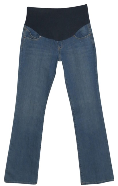 Preload https://img-static.tradesy.com/item/715975/blue-new-without-long-maternity-boot-cut-jeans-size-6-s-28-0-0-650-650.jpg