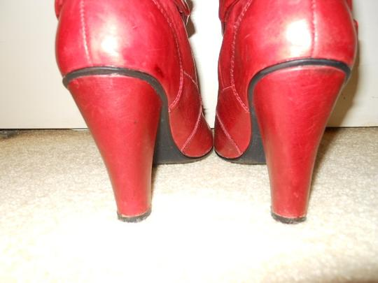 Two Lips Leather red Boots