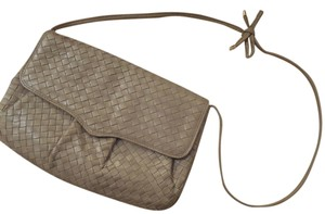 Cosci Unique Classic Woven Leather Leather Shoulder Bag