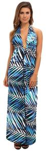 White and Blue Maxi Dress by Trina Turk