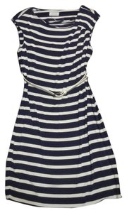 Calvin Klein short dress Blue and white Nautical Striped on Tradesy