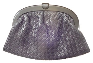 Bottega Veneta Leather Woven Black Clutch