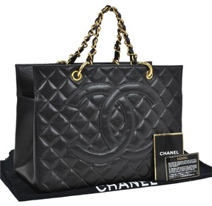 Chanel Quilted Chain Tote in Black