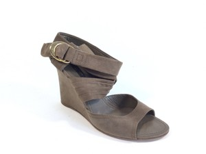 Louis Vuitton Brown Wedges