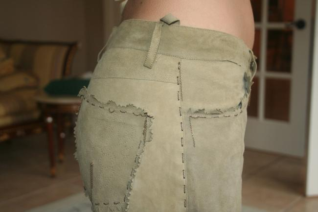 Kerry Grimd Suede Perforated Capri/Cropped Pants olive green Image 5