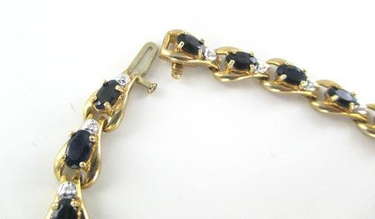 Other 10KT SOLID YELLOW BRACELET BANGLE SAPPHIRE 20 GENUINE DIAMONDS 8.2 GRAMS JEWELRY Image 4