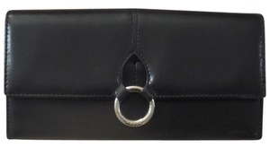 Furla Furla Classic Black Wallet with Circular Silver Detail