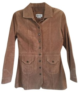 Charlotte Russe Suede Tan Leather Jacket