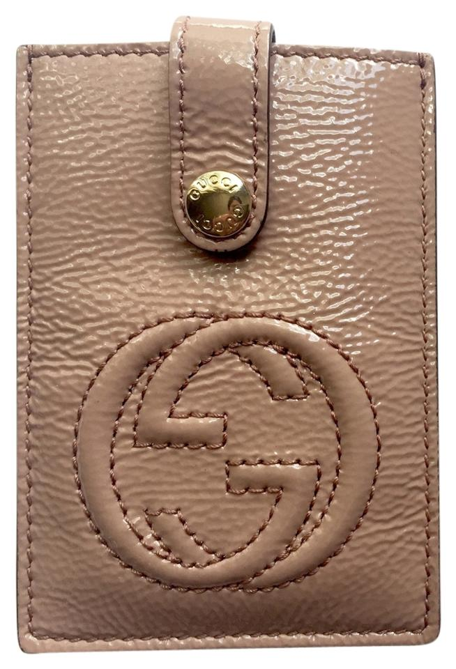 Gucci Nude Soho Patent Leather Business / Credit Card Cardholder ...