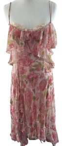 Dolce&Gabbana short dress Pink Floral Feminine Flowy on Tradesy