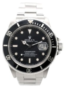 Rolex ROLEX SUBMARINER STAINLESS STEEL BLACK DIAL MEN'S WATCH