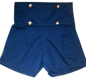 Shop of chic High Waist Shorts Royal Blue