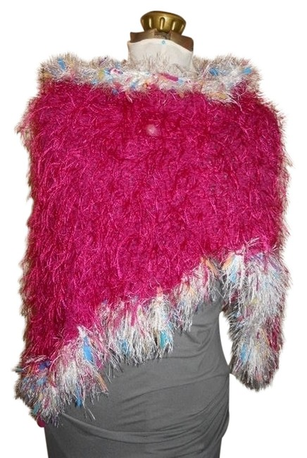 Preload https://img-static.tradesy.com/item/716471/pink-hand-crocheted-ponchocape-size-os-one-size-0-0-650-650.jpg