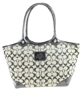 Coach Tote in Black/ Gray