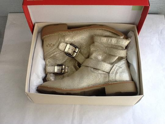O.X.S. Combat Leather Leather-lined Silver Boots