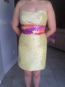 Canary Yellow/fushia, Orange Dress