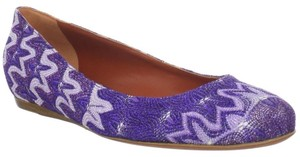 Missoni Ballet Flat Ballerina Canvas Purple Flats