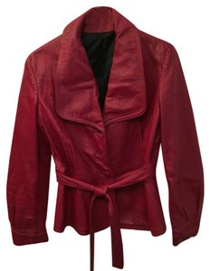 Leather shop made Red Leather Jacket