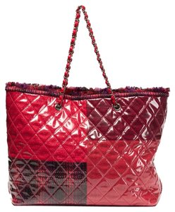 Chanel Funny Tweed Tote in Red / Pink