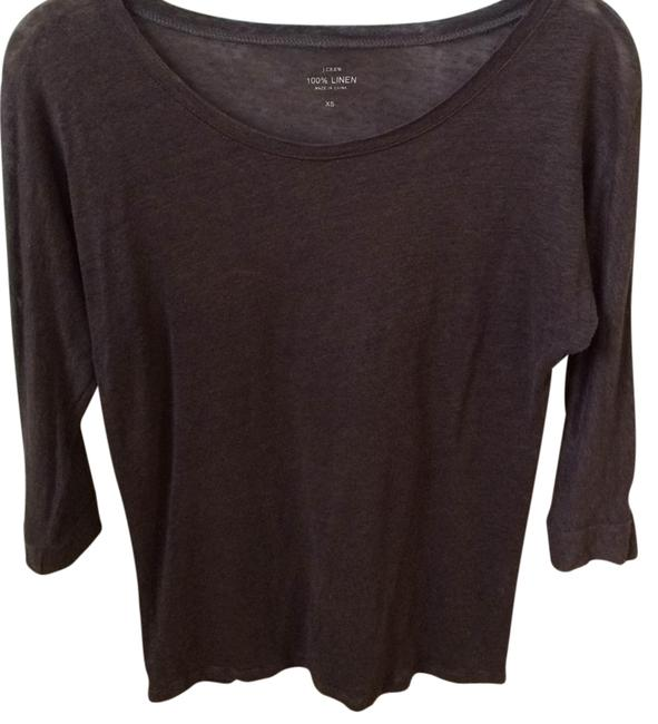 Preload https://img-static.tradesy.com/item/7166143/jcrew-charcol-boatneck-tee-shirt-size-2-xs-0-1-650-650.jpg
