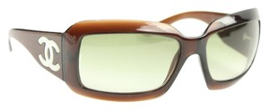 Chanel Chanel Brown Mother of Pearl CC Sunglasses CJJY18