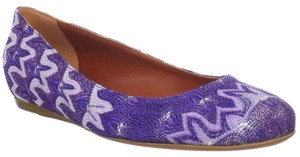 Missoni Ballet Ballerina Textured Luxury Purple Flats