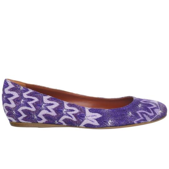 Missoni Ballet Ballerina Textured Luxury Purple Flats Image 2